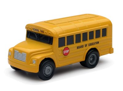 School Bus with Pull-Back Action - New-Ray
