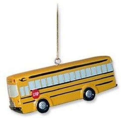 Bluebird All American School Bus Ornament Custom lettered
