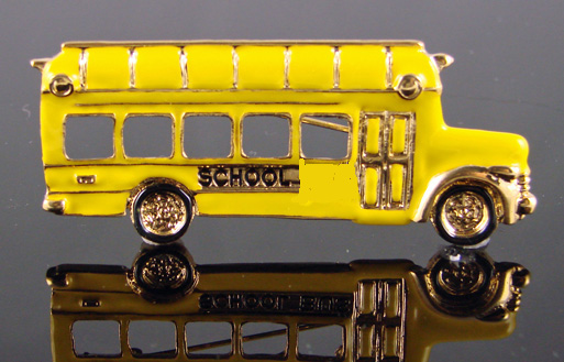 School bus brooch side view, BX3435