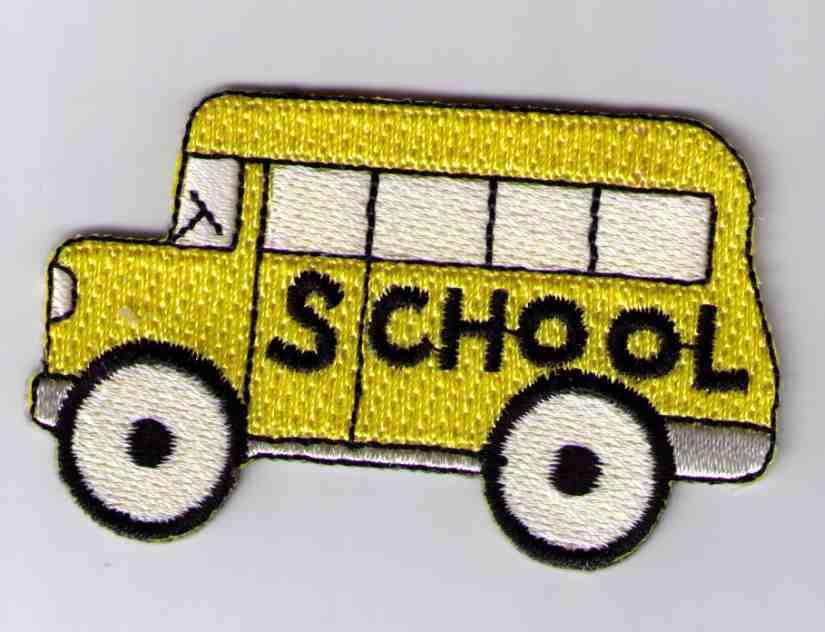"""School Bus Patch Large 3.0""""."""