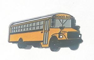 School Bus lapel pin Thomas FS-65