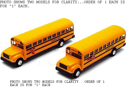 "8.25"" Conventional style school bus model"
