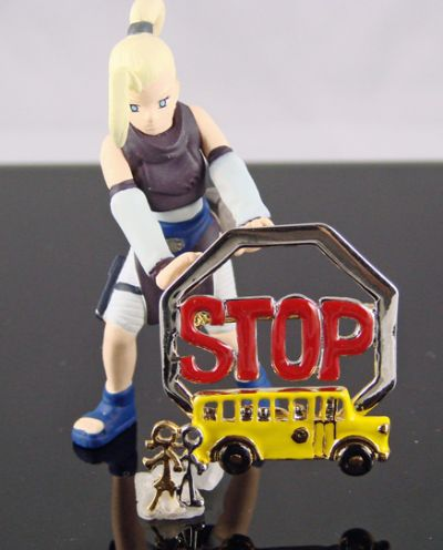 School bus brooch