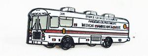 School Bus lapel pin Thomas Medical HDX