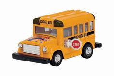 4005KINTOY, 3.5 inch Type A school bus multicolors