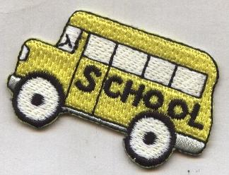 Short school bus Patch small 2.0 inch