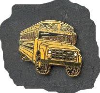 School Bus Pin, Front 3/4