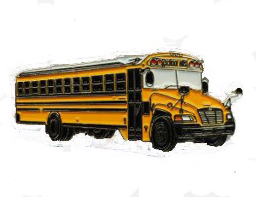 BlueBird Vision school bus 5 color lapel pin