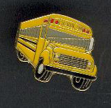 School Bus Pin, Style B Front 3/4