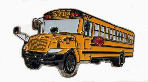 International CE School Bus Pin  1.5 inch