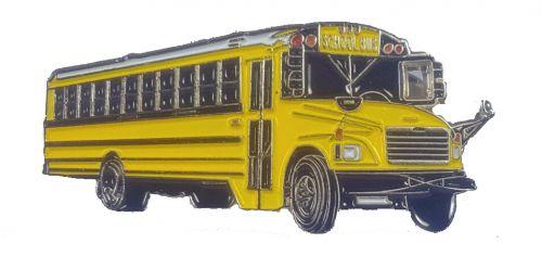 School Bus lapel pin Thomas FS-65 1.5 inch