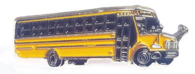 School Bus lapel pin Thomas C2 Release 2