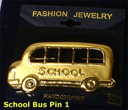 School bus fashion brooch Style 1