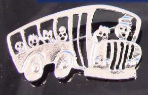 School bus brooch cartoon, unique B5470G