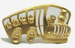 School Bus Fashion Brooch - Kids