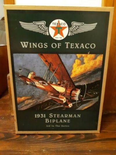 Wings of Texaco - 3rd in the Series - 1931 Stearman Biplane die cast model/coin bank